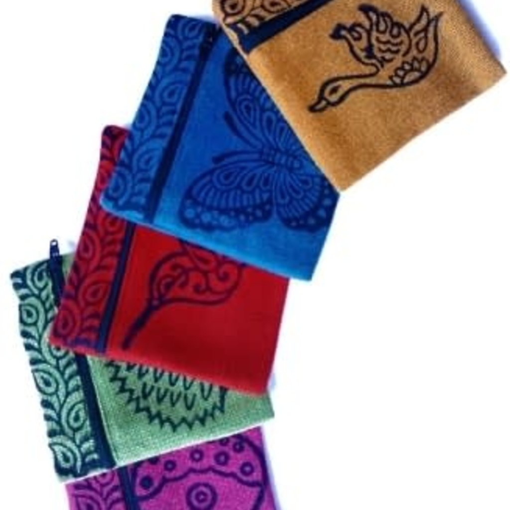 Ganesh Himal Blockprint Cotton Square Coinpurse