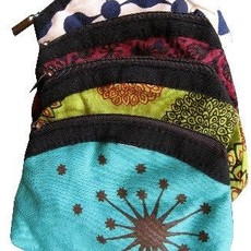 Ganesh Himal Screen-Print Cotton Coinpurse