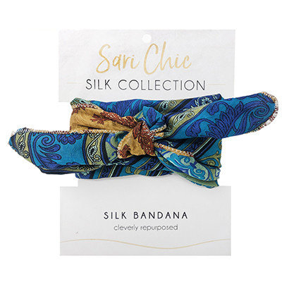 World Finds Sari Chic Silk Bandana