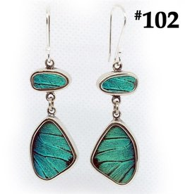 Silver Tree Designs Flutter Butterfly Earrings 102 Prepona