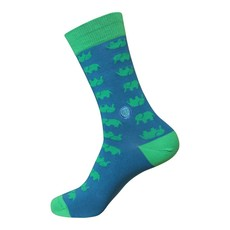 Conscious Step Socks that Protect Elephants: Green & Blue Small