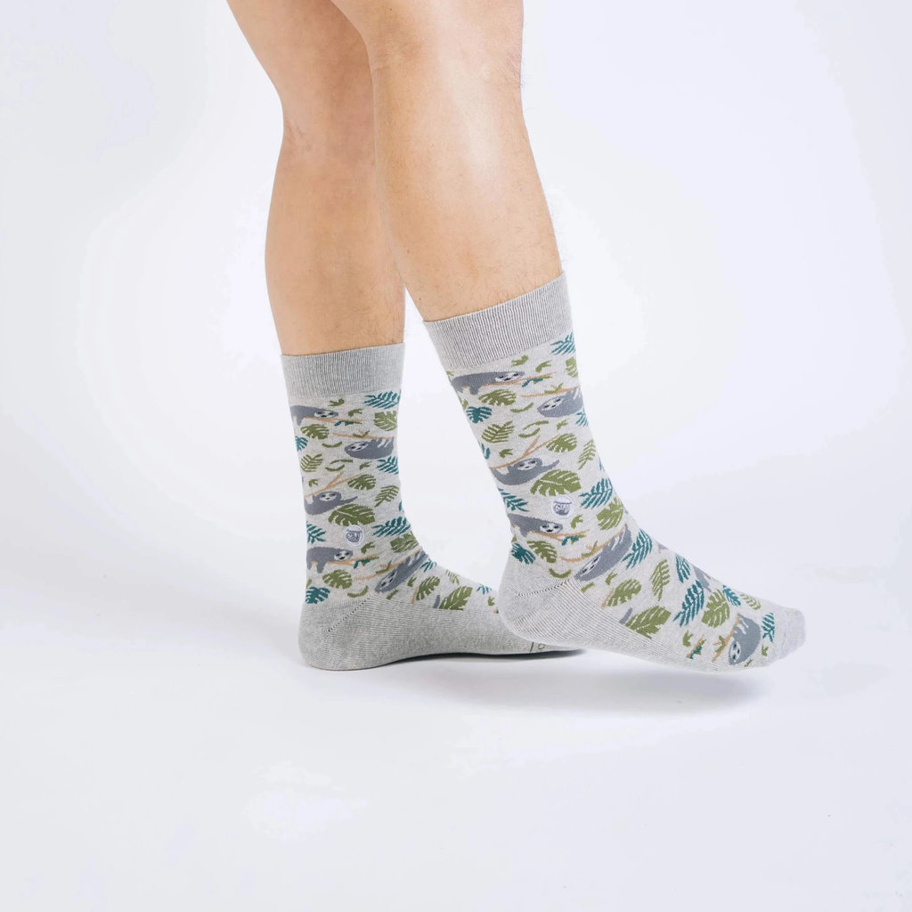 Conscious Step Socks That Protect Sloths: Grey Large