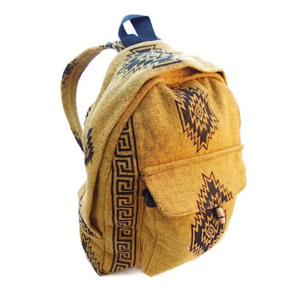 Ganesh Himal Small Cotton Block Print Backpack