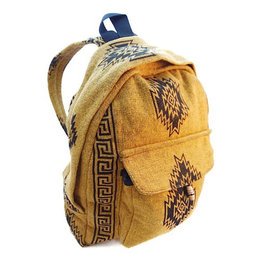 Ganesh Himal Small Cotton Block Print Backpack