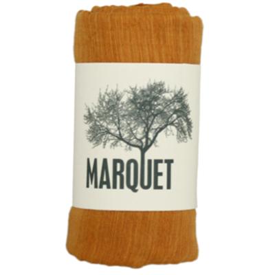 Marquet Fair Trade Turmeric Binh Minh Silk and Cotton Shawl