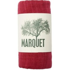 Marquet Fair Trade Red Binh Minh Silk and Cotton Shawl