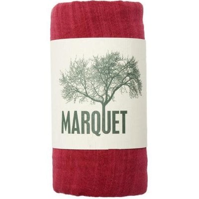 Marquet Fair Trade Red Binh Minh Silk and Cotton Shawl