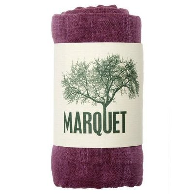 Marquet Fair Trade Purple Binh Minh Silk and Cotton Shawl
