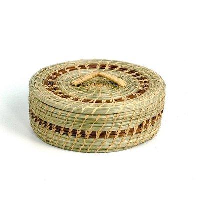Mayan Hands Pine Needle and Wild Grass Tortilla Basket
