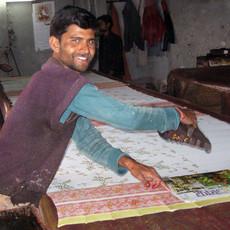 Ten Thousand Villages Rosy Morning Cotton Robe