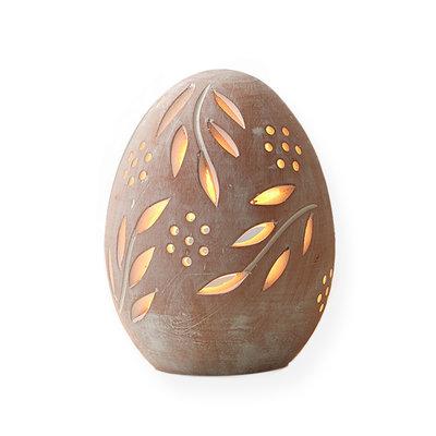 Serrv Terracotta Egg Lantern