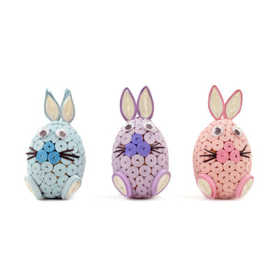 Serrv Quilled Pastel Bunny