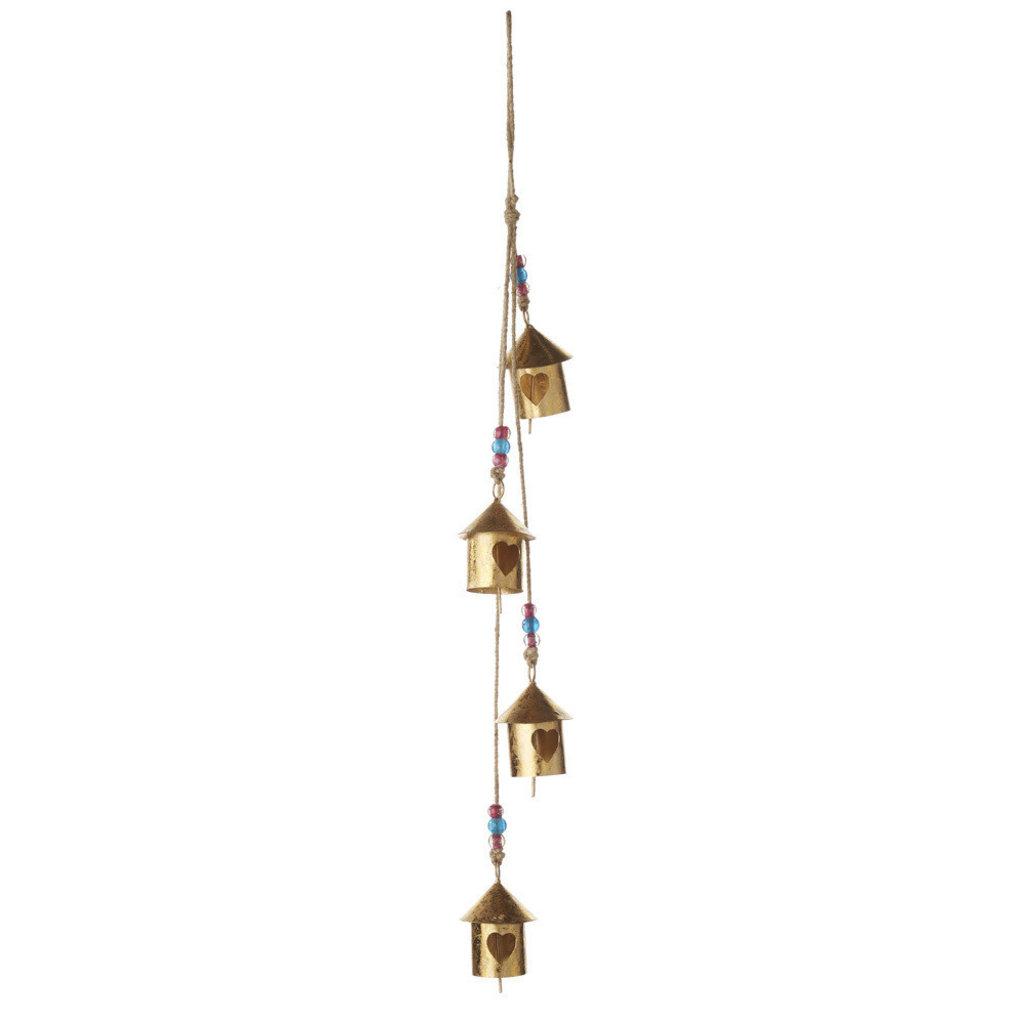 Serrv Birdhouse Village Bell Chimes