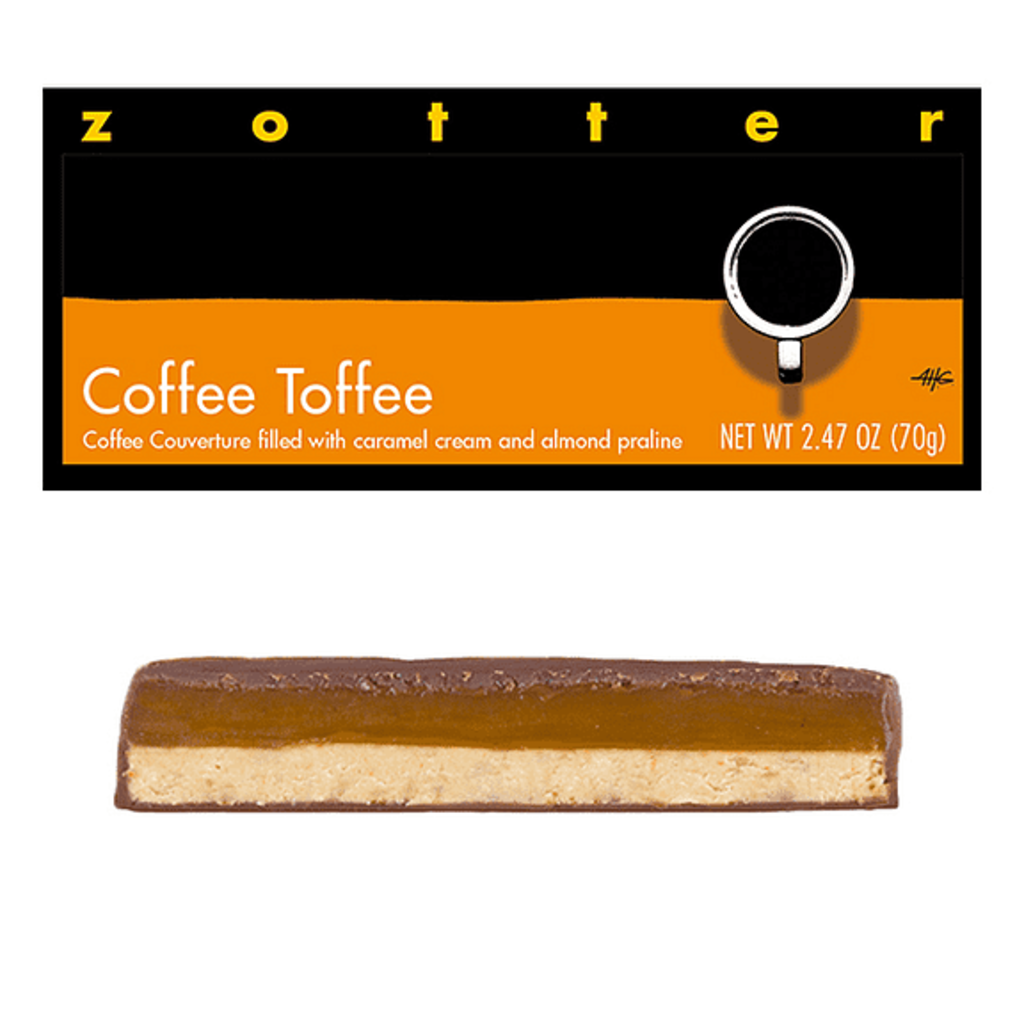 Zotter Chocolate Coffee Toffee Hand-scooped Chocolate