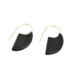 Serrv Mod Horn Slice Earrings