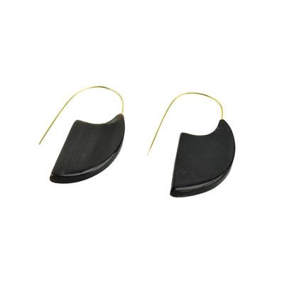 Serrv Mod Dark Horn Slice Earrings