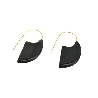 Serrv Mod Horn Slice Earrings