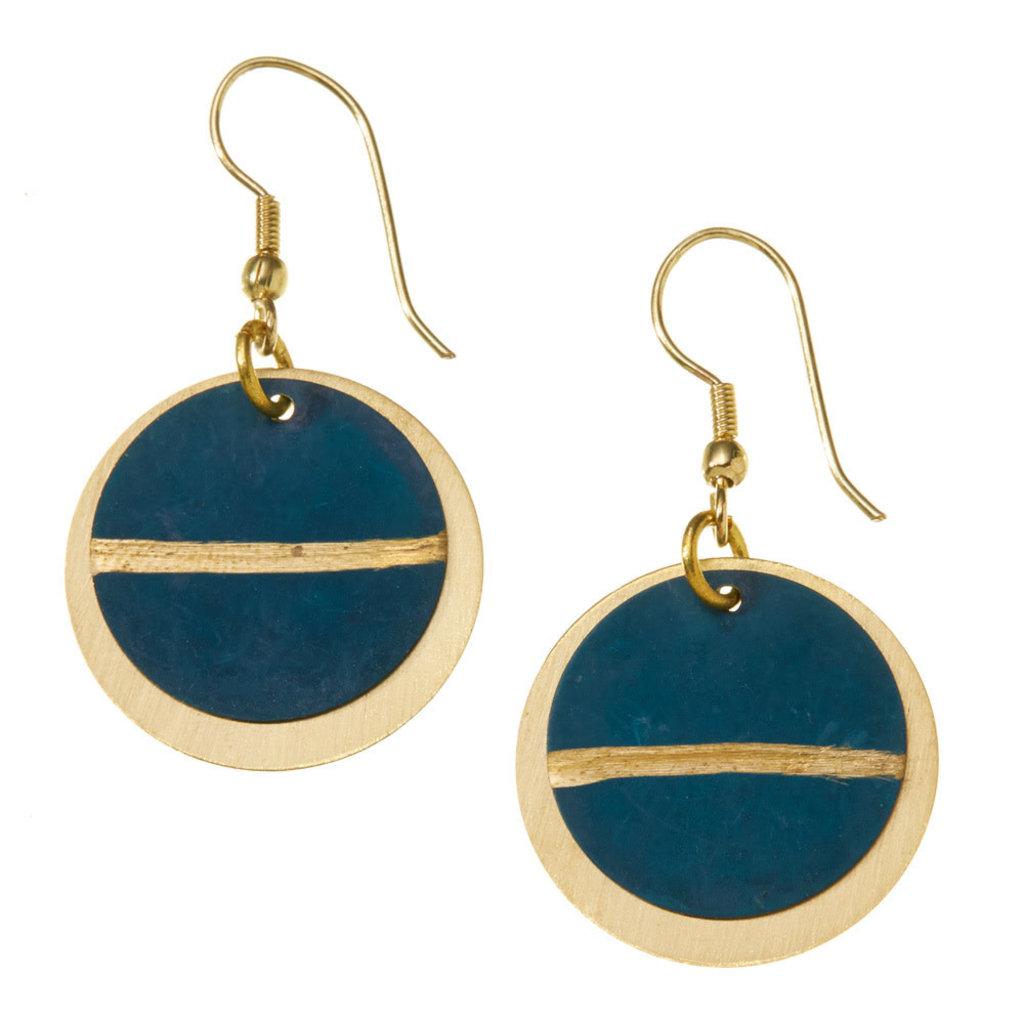 Serrv Nisha Brass Earrings