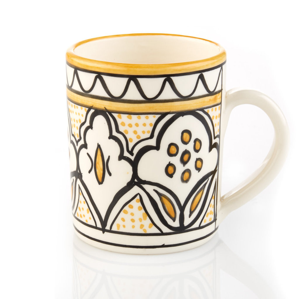 Serrv Yellow Jasmine Floral Mug