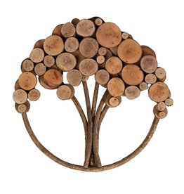 Ten Thousand Villages Wood Slice Tree of Life Wall Art