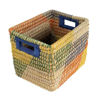 Ten Thousand Villages Wild Style Rectangular Basket