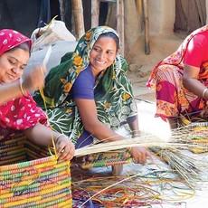 Ten Thousand Villages Kaisa Colorful Rectangular Basket