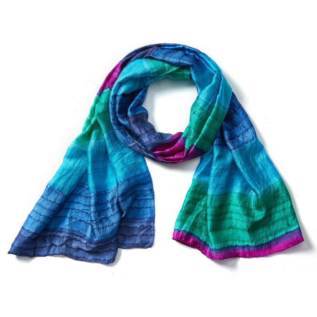 Serrv Kalyani Handpainted Silk Scarf