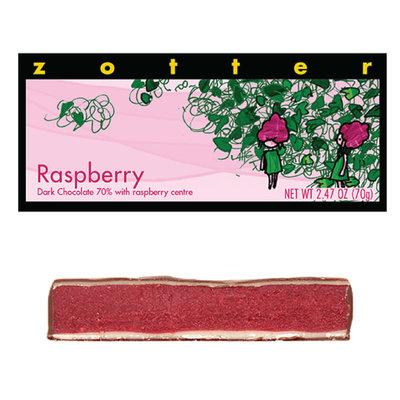 Zotter Chocolate Raspberry Ganache Hand-Scooped Chocolate