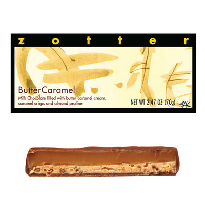 Zotter Chocolate Butter Caramel Hand-scooped Chocolate