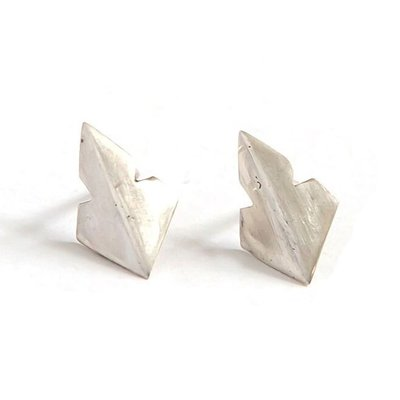 Fair Anita Arrowhead Recycled Sterling Stud Earrings