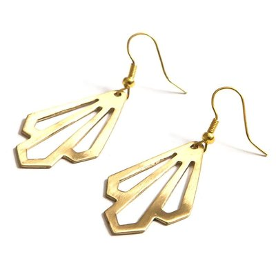 Fair Anita Illuminate Gold Brass Earrings
