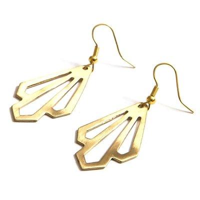 Fair Anita Illuminate Gold Brass Earrings