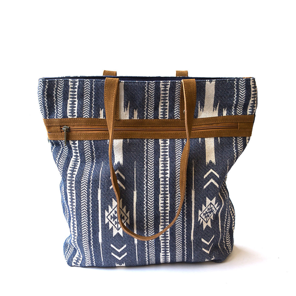 Fair Anita Rover Patterned Blue Purse