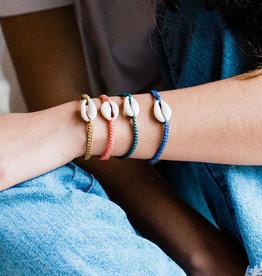 Lucia's Imports Shell Macrame Bracelet