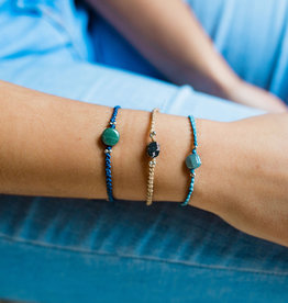 Lucia's Imports Small Macrame Jade Bracelet