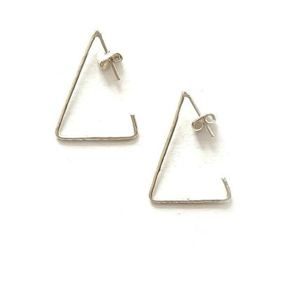 Fair Anita Triangle Recycled Sterling Hoop Earrings