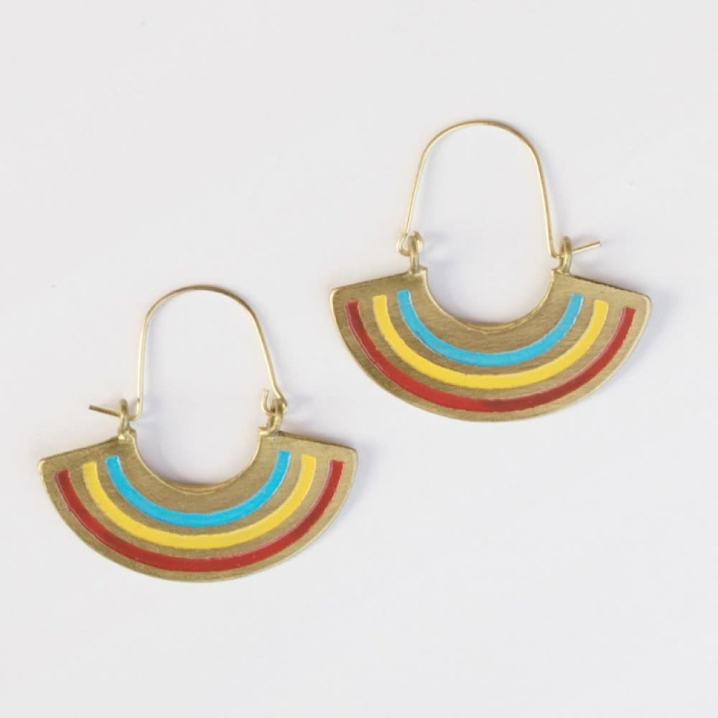 Mata Traders Petite Rainbow Earrings