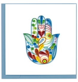 Quilling Card Hamsa Hand Quilled Card
