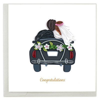Quilling Card Just Married Quilled Card
