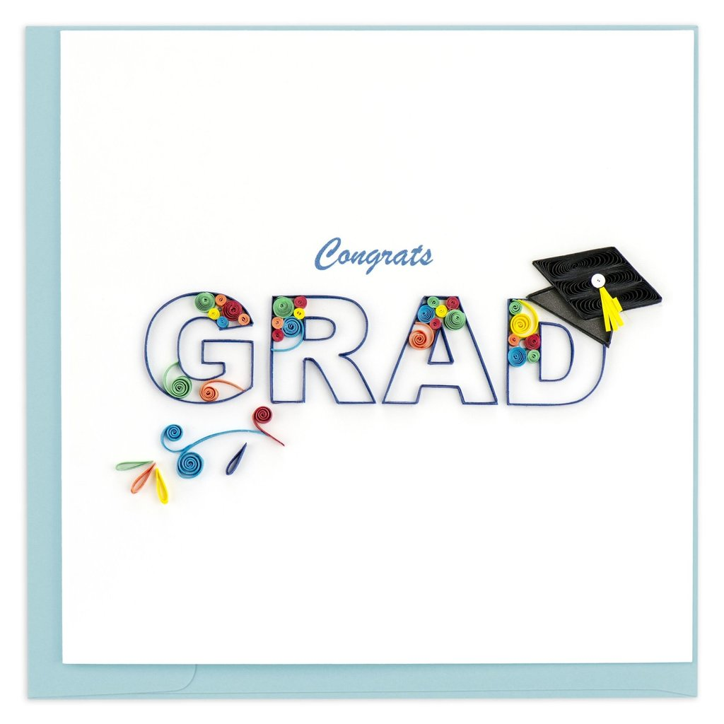 Quilling Card Congrats Grad Quilled Card