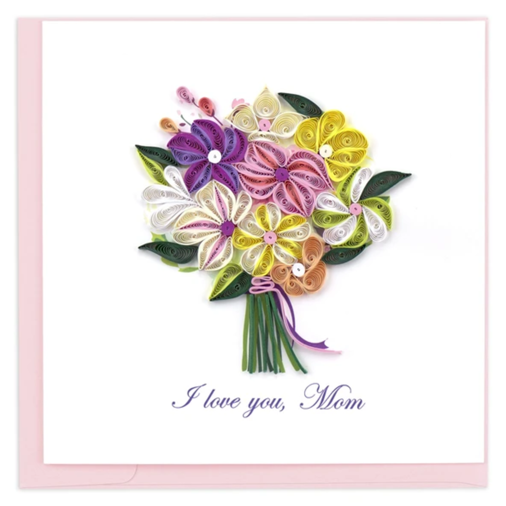 Quilling Card Love You Mom Bouquet Quilling Card
