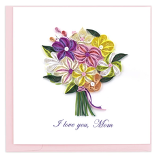 Quilling Card Love You Mom Bouquet Quilled Card