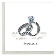 Quilling Card Wedding Rings Quilling Card