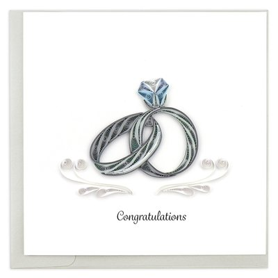 Quilling Card Wedding Rings Quilled Card