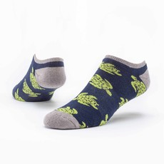 Maggie's Organics Navy Turtles Footie Socks
