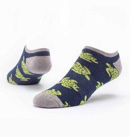 Maggie's Organics Navy Turtles Footie Socks