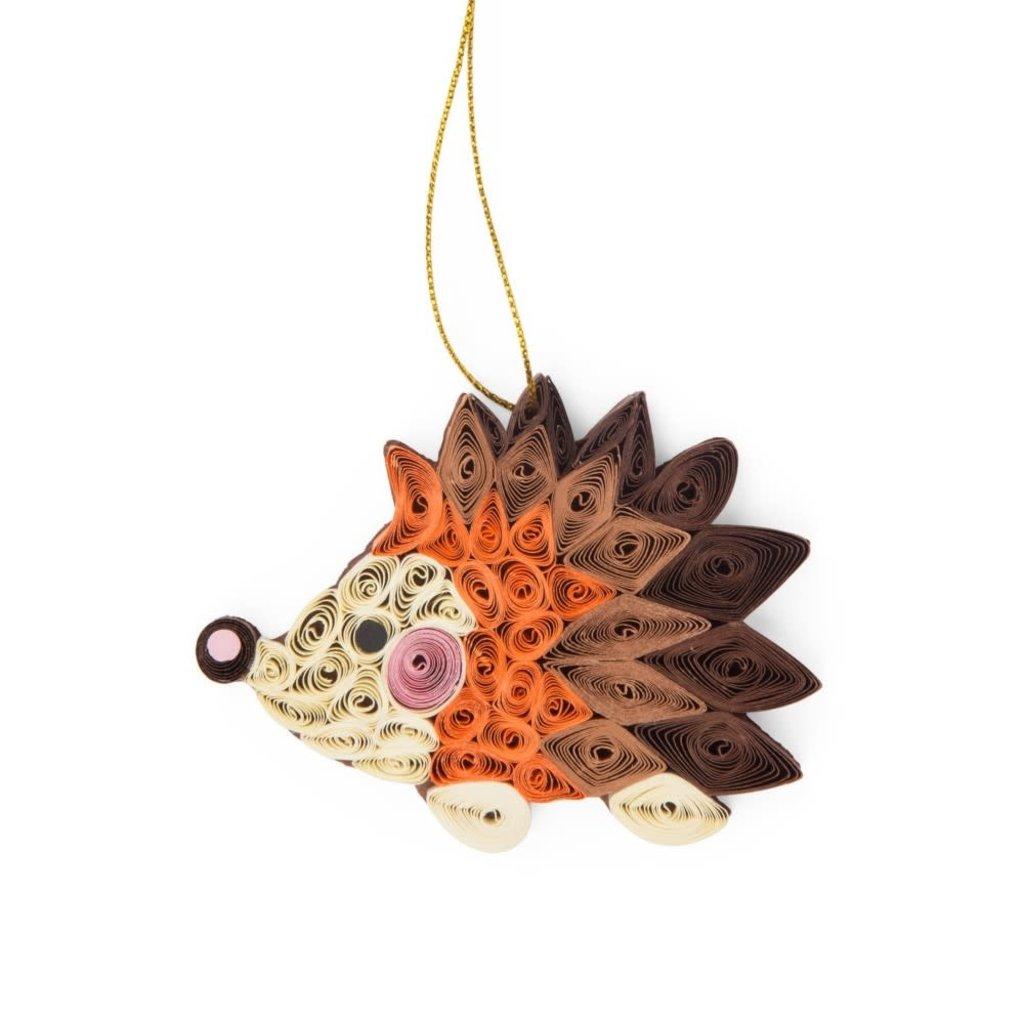 Ten Thousand Villages Quilled Paper Hedgehog Ornament