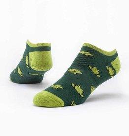 Maggie's Organics Green Frogs Footie Socks