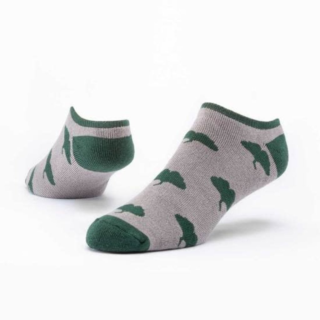 Maggie's Organics Taupe Ginkgo Footie Socks