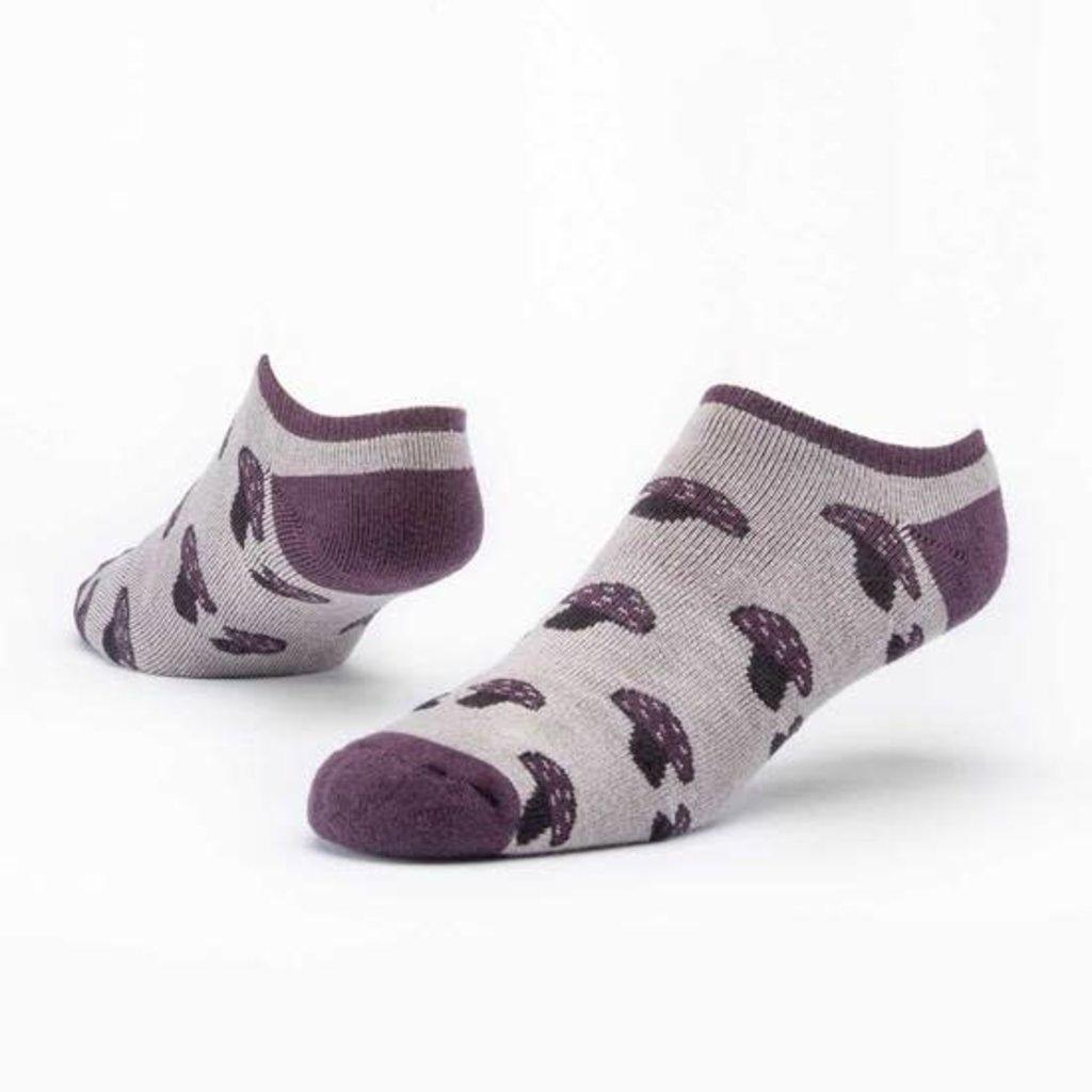 Maggie's Organics Taupe Mushroom Footie Socks